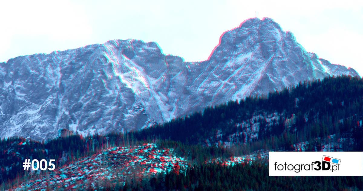 Przestrzenny krajobraz górski – Giewont 3D